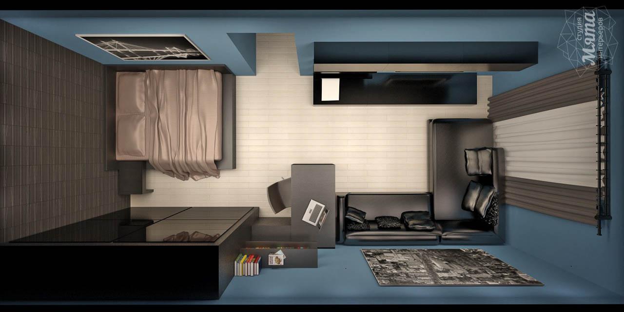 Дизайн интерьера и ремонт однокомнатной квартиры по ул. Комсомольская 45 img427597430