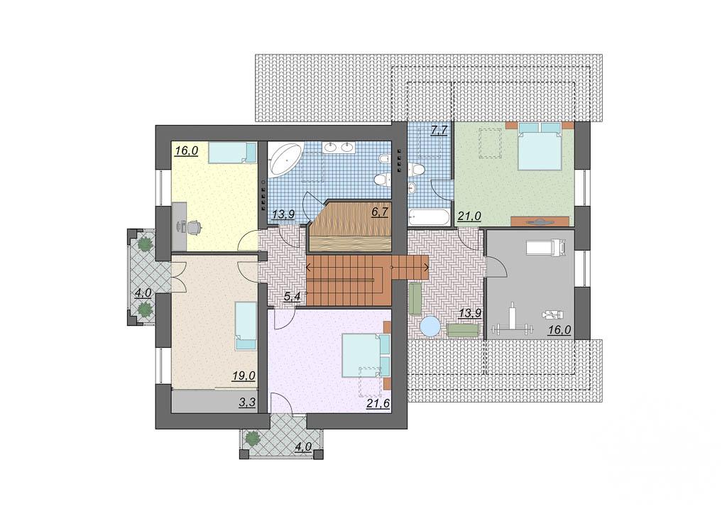 Дизайн проект фасада дома 330 м2 в КП Косулино 4