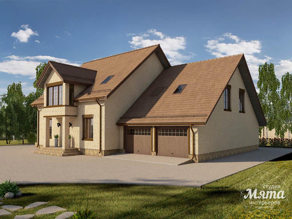 Дизайн проект фасада дома 330 м2 в КП Косулино 3