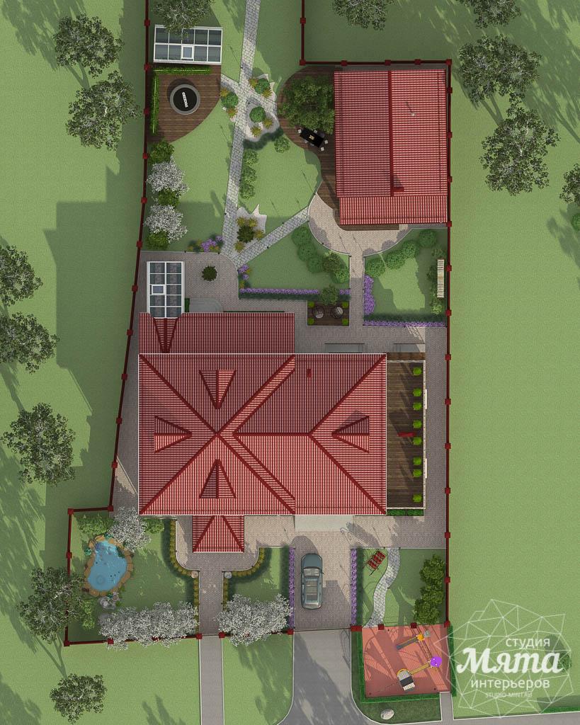 Дизайн фасада дома 532 м2 и бани 152 м2 г. Арамиль img493198747