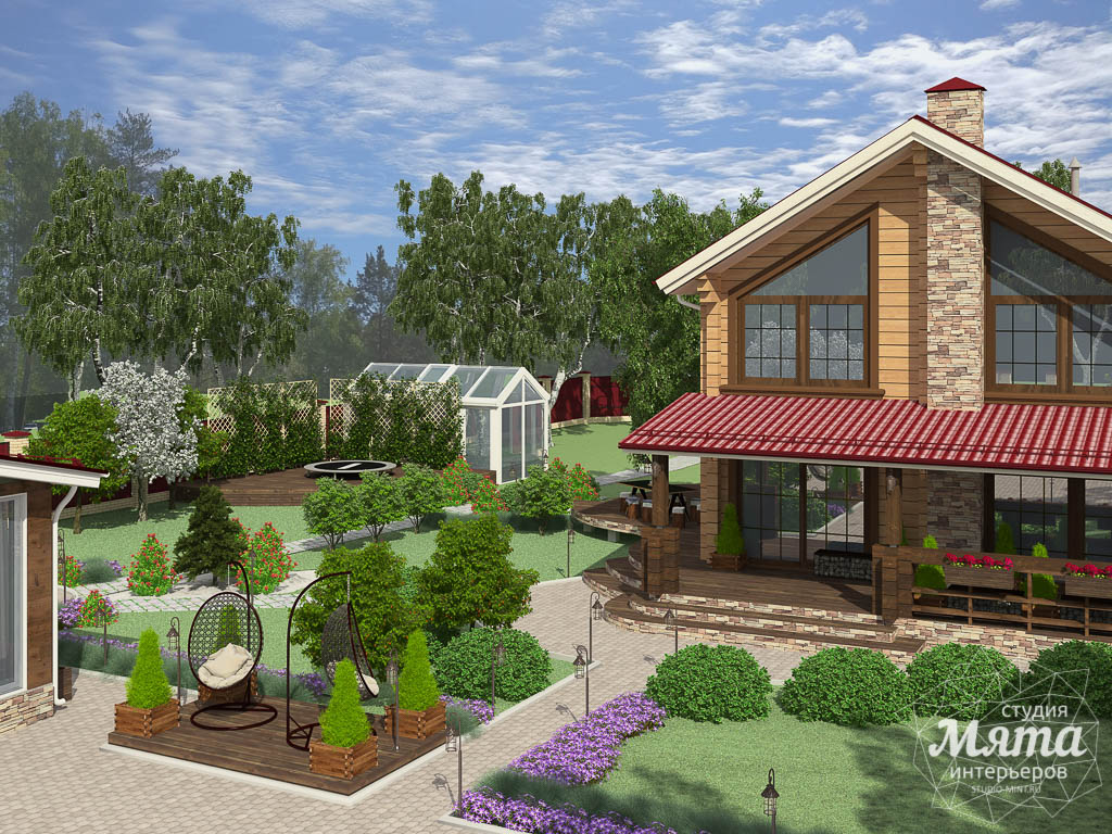 Дизайн фасада дома 532 м2 и бани 152 м2 г. Арамиль img304194143