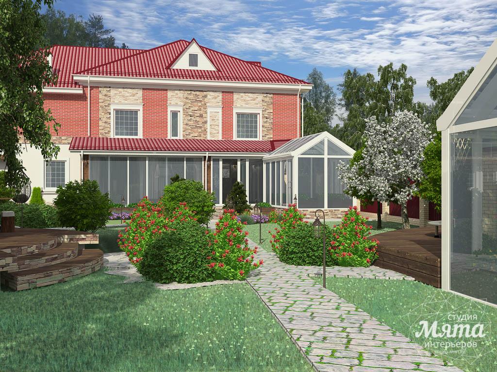 Дизайн фасада дома 532 м2 и бани 152 м2 г. Арамиль img1969028017