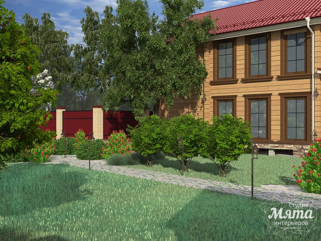 Дизайн фасада дома 532 м2 и бани 152 м2 г. Арамиль img49972940