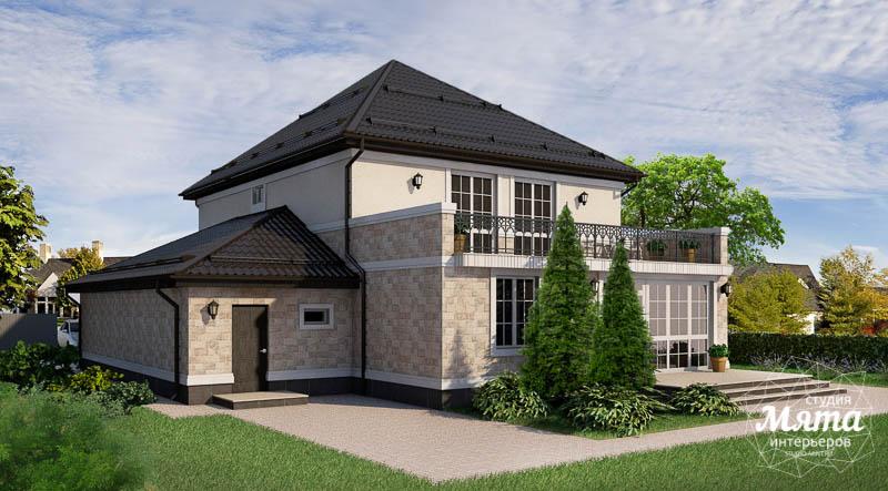Дизайн фасада коттеджа 200 м2 в Тюмени  Екатеринбург img919800312