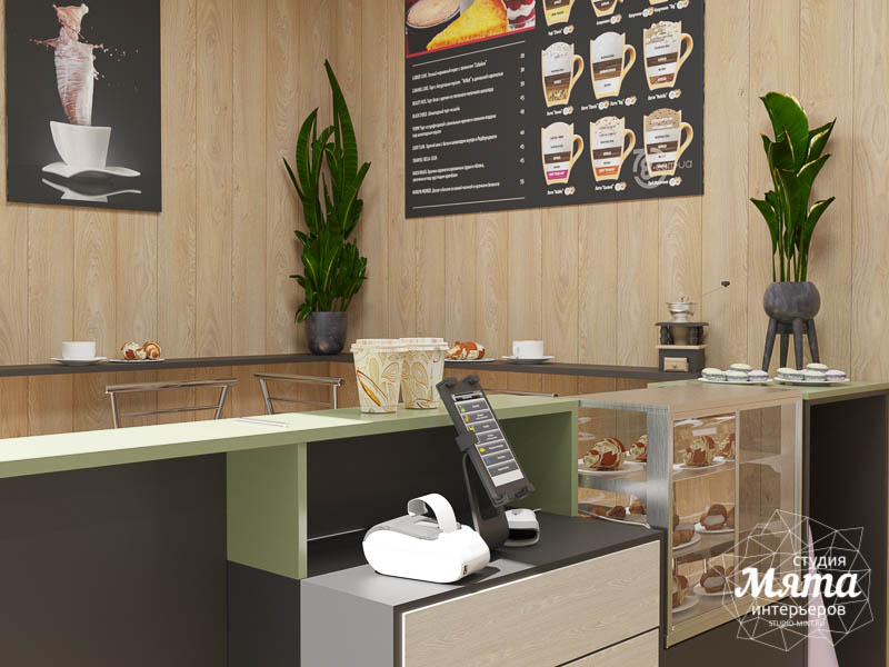 Дизайн интерьера маленькой кофейни   Екатеринбург img1057381331