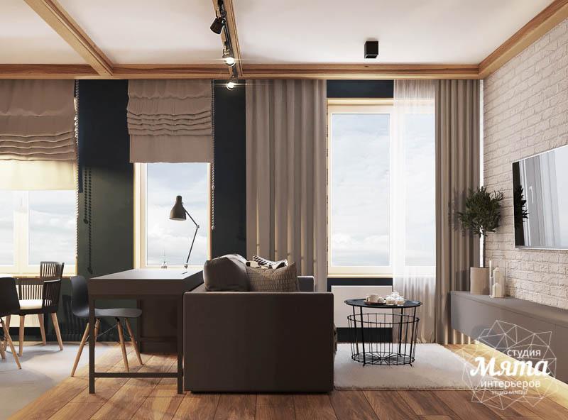 Дизайн интерьера квартиры - студии в ЖК Солнечный img94390129
