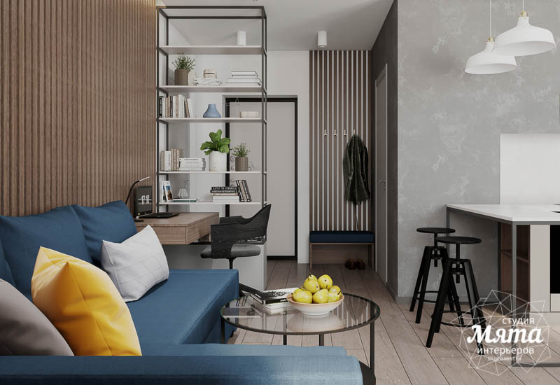 Дизайн интерьера квартиры - студии в ЖК Стрелки img2121144934