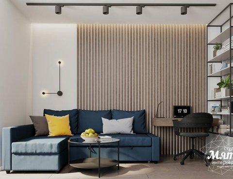 Дизайн интерьера квартиры - студии в ЖК Стрелки