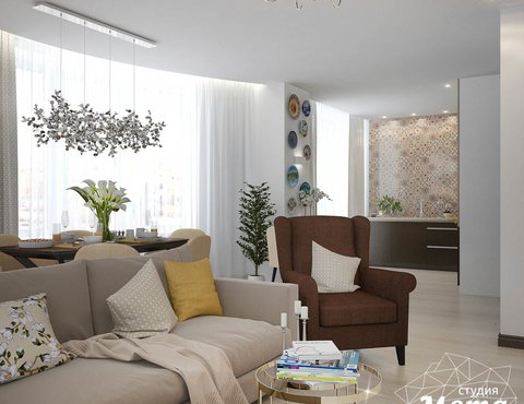 Дизайн-проект двухкомнатной квартиры в ЖК Чемпион Парк